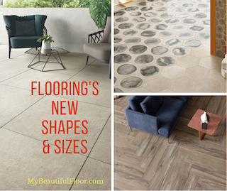 Flooring shapes and sizes